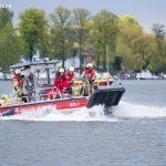 Berliner Feuerwehr mit Mehrzweckboot (MZB 2) beim Wassersportfest 2017