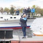 Steffen Sambill, Bezirksbürgermeister Oliver Igel, Robert Schaddach beim Wassersportfest 2017
