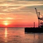Bremerhaven Sonnenuntergang